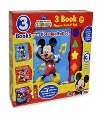 Mickey Mouse Clubhouse 3 Book Play-a-Sound Set By : Disney