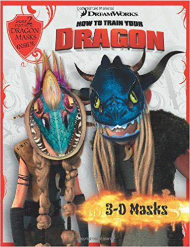 3 D Masks Book (How to Train Your Dragon) Paperback -