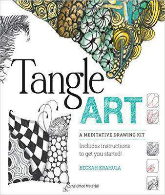 Tangle Art A Meditative Drawing Kit Includes archival pens paper tiles