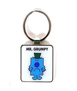 Mr Grumpy Metal Key Ring