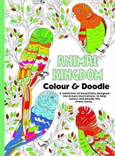 Adult Colouring Animal Kingdom