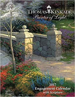 Thomas Kinkade Painter of Light with Scripture 2017 Weekly Desk Diary