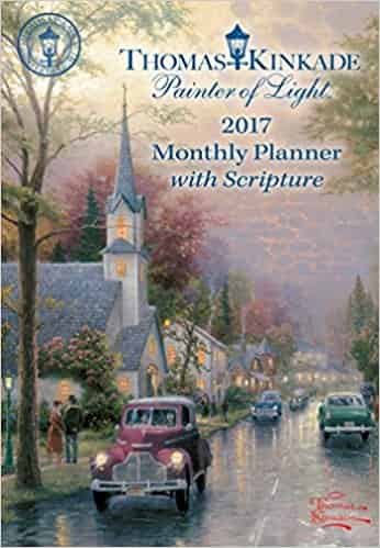 Thomas Kinkade Painter of Light with Scripture 2017 Two Year Pocket Planner