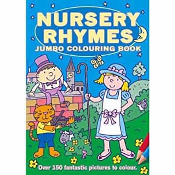 Colouring Book Nursery Rhymes Jumbo