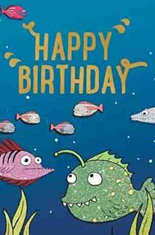 Under the Sea Happy Birthday Card Book 6 Card Book Pack Colouring