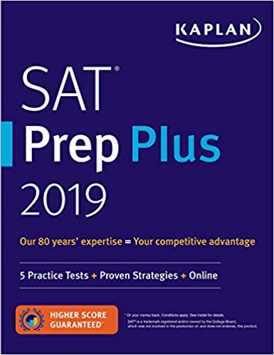 SAT Prep Plus 2019: 5 Practice Tests, Proven Strategies, Online (Kaplan Test Prep)