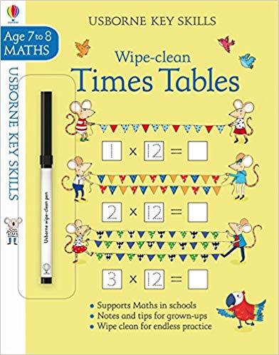 Wipe-Clean Times Tables 7-8 (Key Skills)