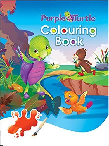 Purple Turtle Colouring Book