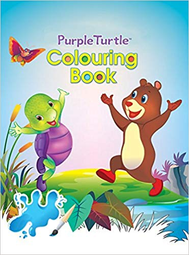 Purple Turtle Colouring Book-3