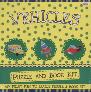 Vehicles Puzzle & Book Kit