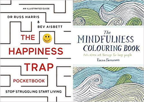 The Happiness Trap Pocketbook & The Mindfulness Colouring Book: A Survivor's Guide to Depression