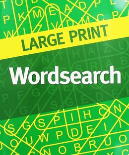 Large Print Wordsearch Green