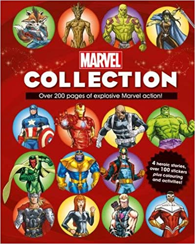 Marvel Collection: 4 Heroic Stories, Over 100 Stickers Plus Colouring and Activities!