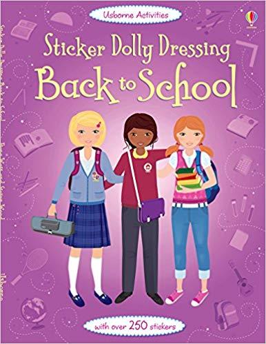 Sticker Dolly Dressing Back to School