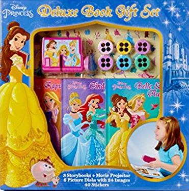 Disney Princess Deluxe Storybook Gift Set with Movie Projector, Picture Disks and Stickers