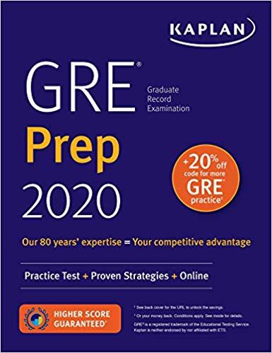GRE Prep 2020: Practice Tests + Proven Strategies + Online