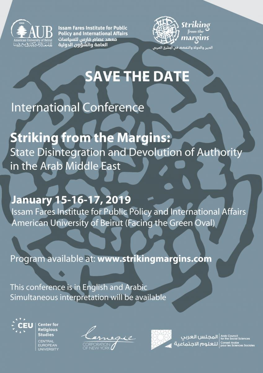 Beirut: Striking from the Margins: State, Religion and Devolution of Authority in the Middle East