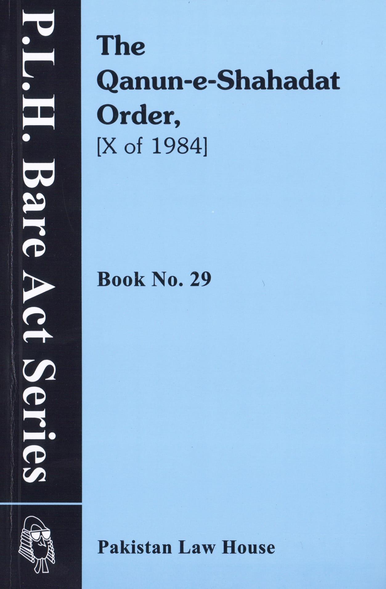 The Qanun E Shahadat Order, 1884