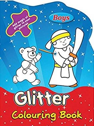 Glitter Colouring Boys