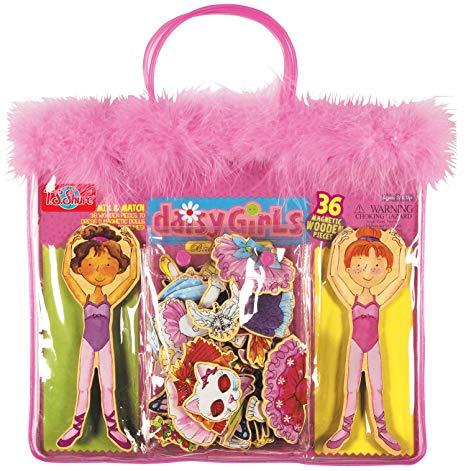 Daisy Girls Ballet Wooden Magnetic Dress-Up Dolls