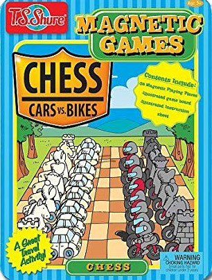 Chess Magnetic Game Tin Game - Cars Vs. Bikes