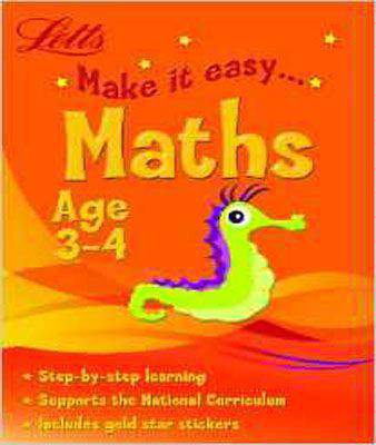 Maths Age 3-4 (Letts Make It Easy)