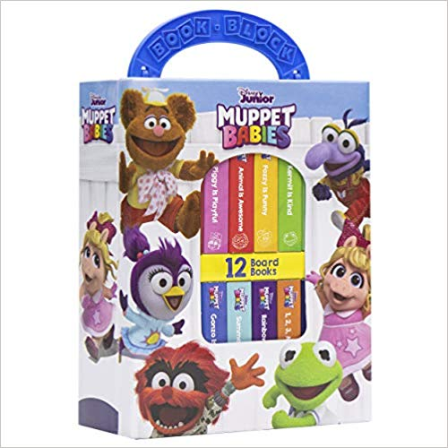 Baby Einstein - 10 Wooden Blocks and Interactive First Look and Find Board Book Set