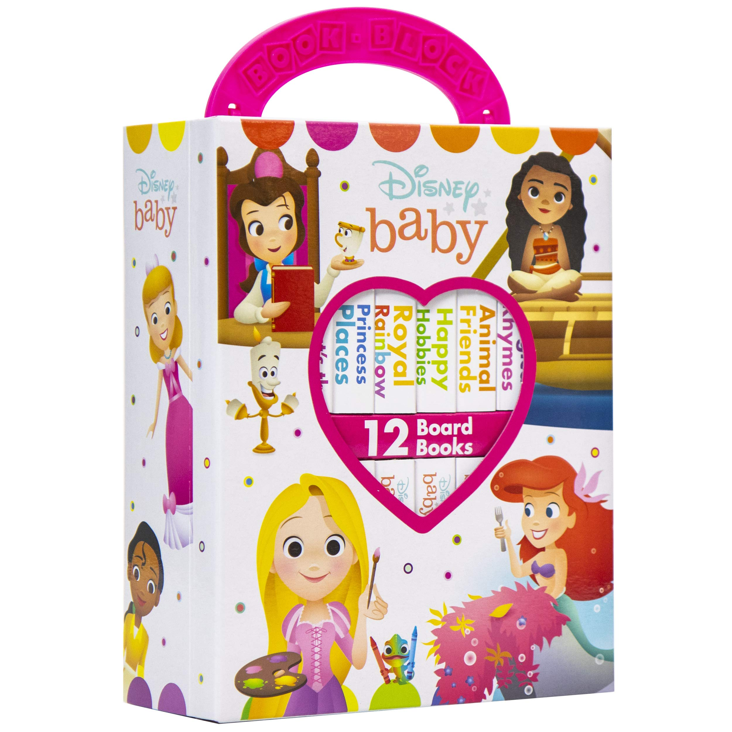 Disney Baby Princess - My First Library Board Book Block 12 Book Set