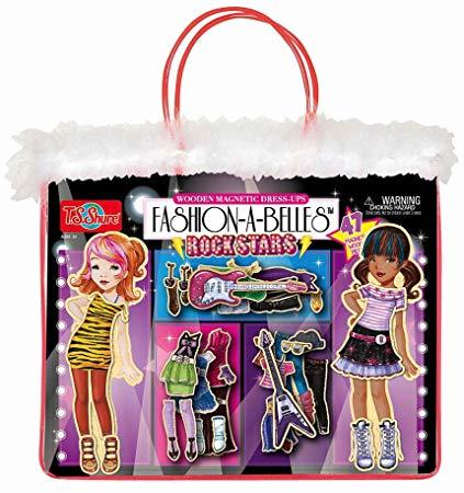 Fashion-A-Belles Rockstar Wooden Magnetic Dress-Up Dolls