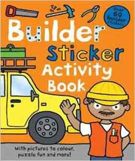 Builder Sticker Activity Book (Preschool Sticker Activity Books)
