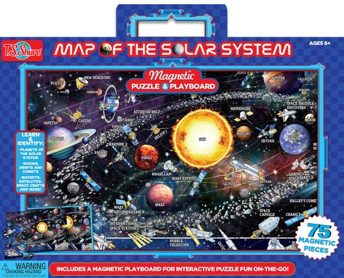 Map Of The Solar System Magnetic Playboard & Puzzle
