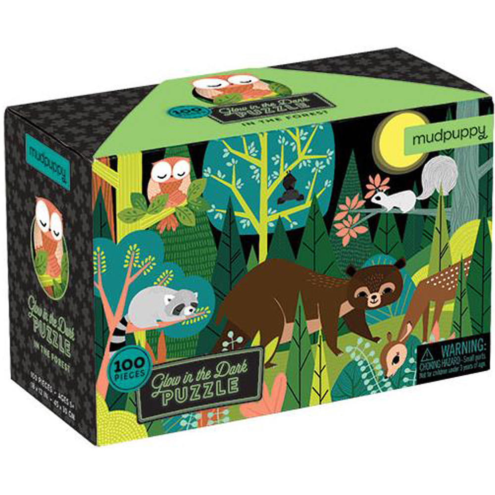 Mudpuppy Glow In The Dark Puzzle - In The Forest - Puzzles for Children