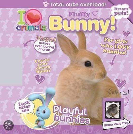 I Love Animals Fluffy Bunny