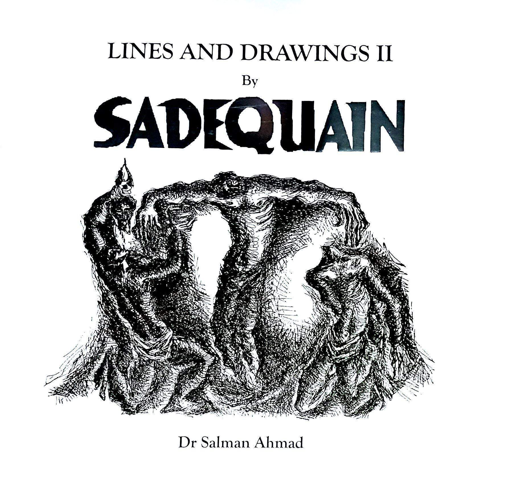 Sadequain lines and drawing