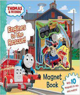 Thomas & Friends: Engines to the Rescue! Magnet Book - (BB)