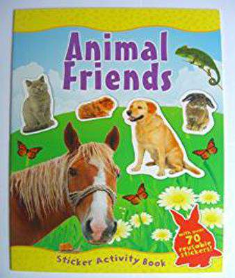 ANIMAL FRIENDS Sticker Activity Book (A4)