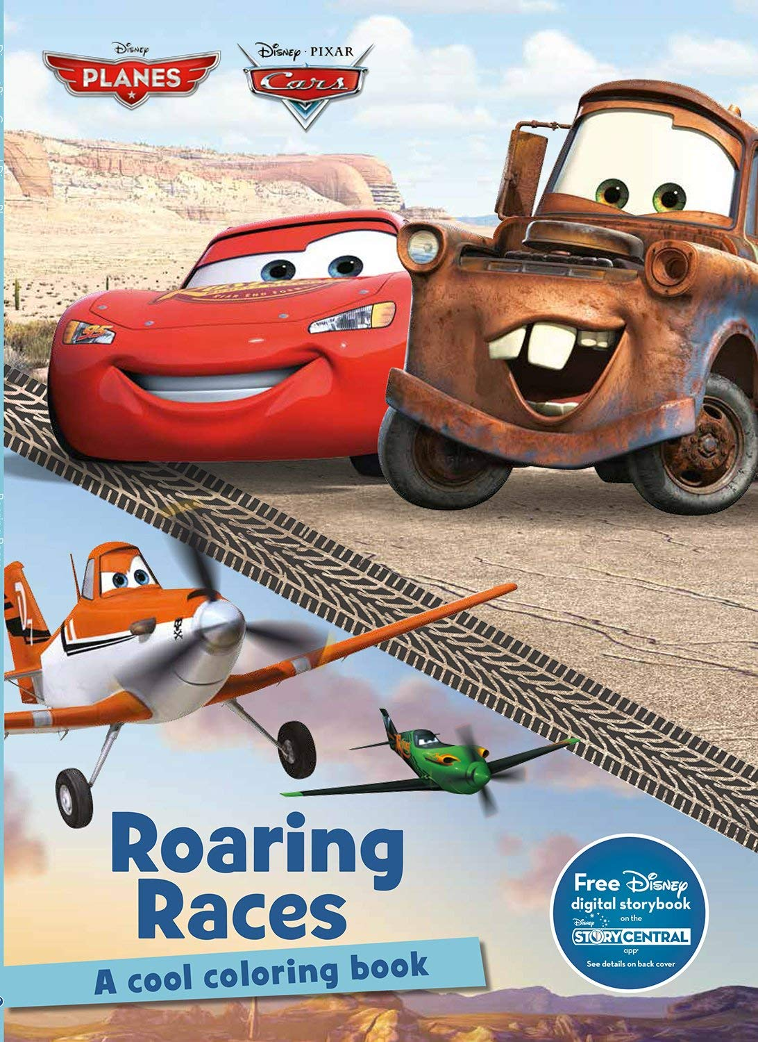 Roaring Races Coloring Book