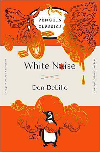 White Noise Penguin Orange Collection -