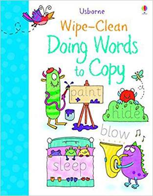 Wipe Clean Doing Words to Copy Wipe Clean Books - (PB)