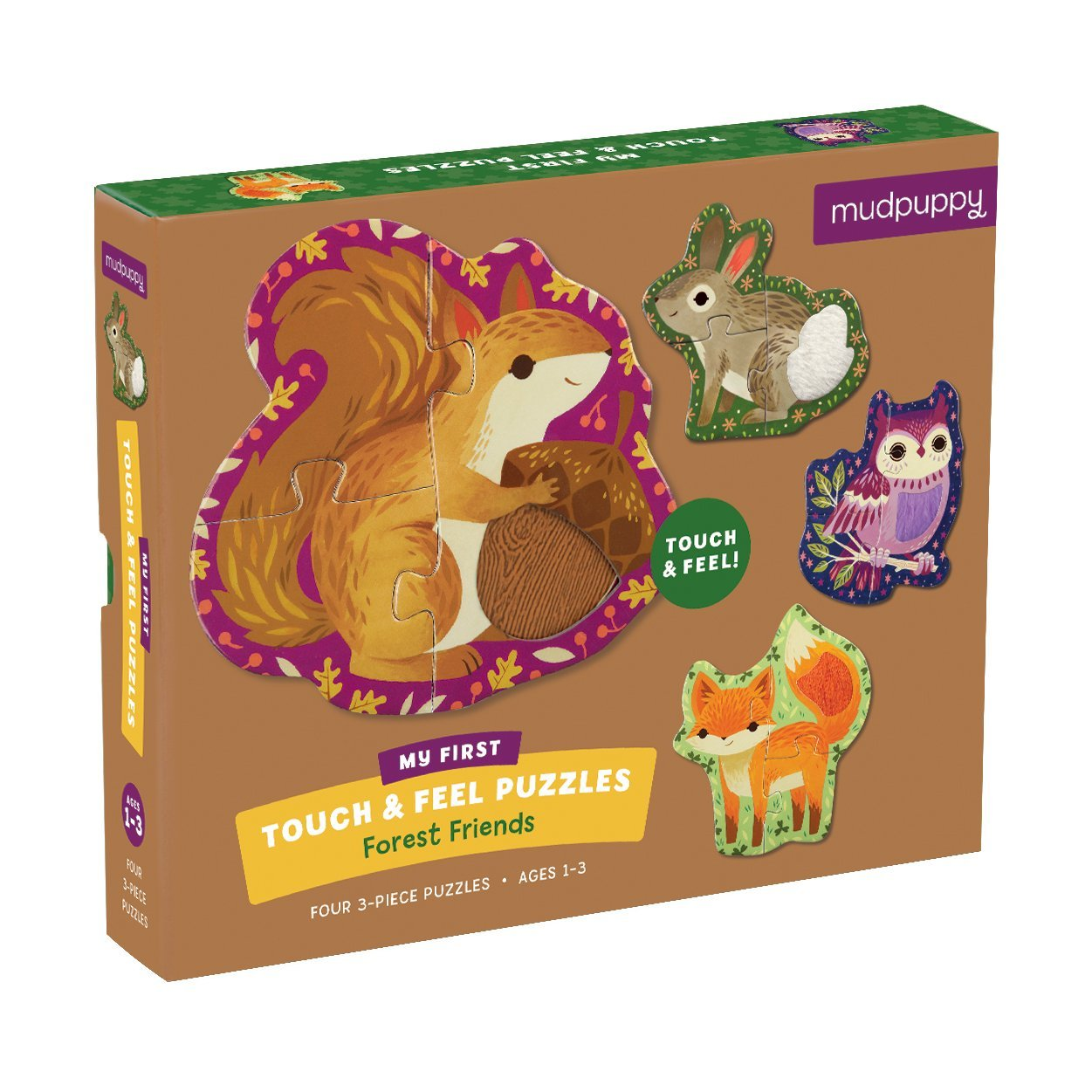 Forest Friends My First Touch & Feel Puzzles by Mudpuppy.