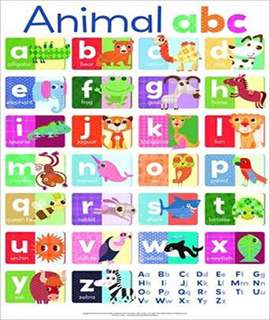Animal ABC Wall Chart  -