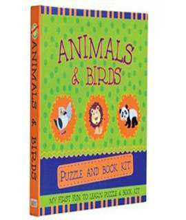 Animals & Birds Puzzle & Book Kit