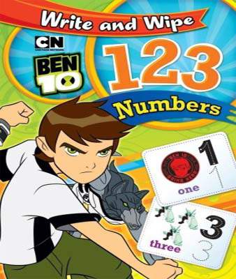 Ben 10 Write and Wipe 123 Nuers