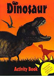 DINOSAUR ACTIVITY BOOK RED