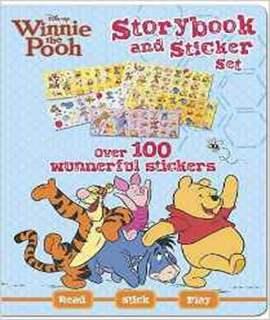 Disney Winnie-the-Pooh Sticker Storybook Set   -   Hardcover
