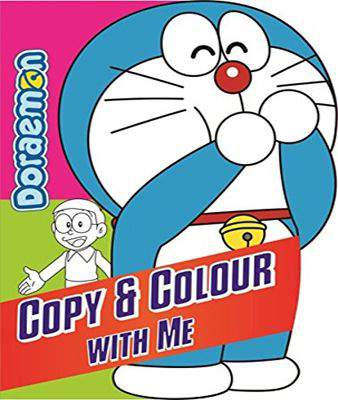Doreamon Copy Colouring With me - 1