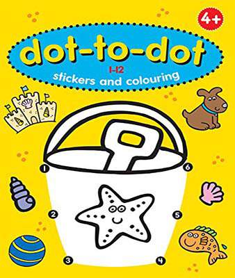 Fun Learning Dot to Dot 1-12 (Stickers & Colouring)  -  Paperback