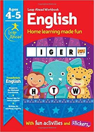 Learn at Home Workbooks: English Age 4-5 (Leap Ahead Work Books)