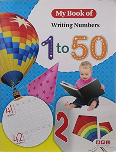 MY BOOK OF WRITING NUMBERS 1-50