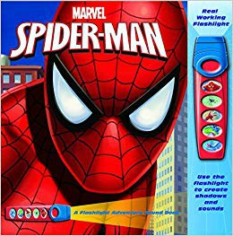 Marvel Flashlight Adventure Book Spiderman